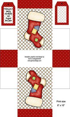 Freebie - Christmas Boxy Treat Bag