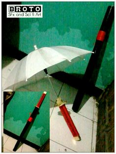 KATANA swords surprise. Imagine if you carry a sword which turned out to be an umbrella. funny right?