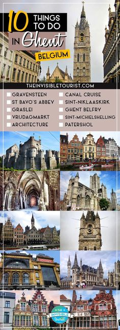 10 Things to Do in Ghent, Belgium. Travel in Europe.