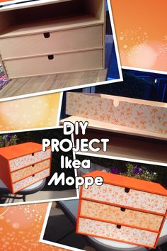 DIY project cabin with draws from ikea Moppe  Make up drawers