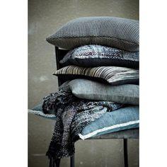Lene Bjerre Freda Kussen 45 x 45 cm - Blauw/Grijs - afbeelding 3