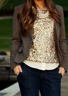 Fall Outfit With Sparkles and Coat