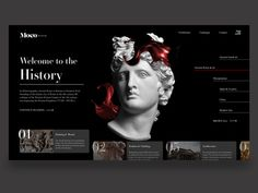 Online museum landing page concept designed by Qeti Phagava. Connect with them on Dribbble; Website Design Layout, Website Design Inspiration, Web Layout, Layout Design, Website Designs, Website Ideas, Web Design Websites, Web Design Agency, Graphic Design Tutorials
