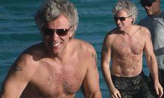 Shirtless Jon Bon Jovi shows off his impressive physique in St. Barths