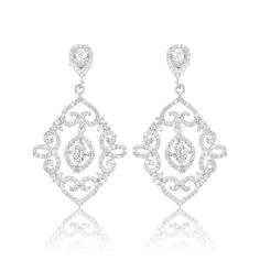 Cercei argint Surub Drop Earrings Zirconii Cod TRSE113