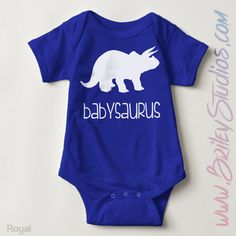 Babysaurus Newborn Baby Outfit Birth Announcement Coming