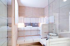 Harvia toteutti täydellisen saunan: vaalean ja puhtaan. Kiuaskiviä myöten. #asuntomessut2014