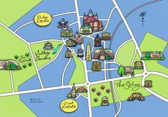 Illustrated map of Harrogate, 2005.