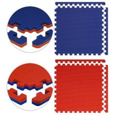 Alessco Jumbo Reversible SoftFloors Set in Red / Royal Blue Size: 10' x 16'