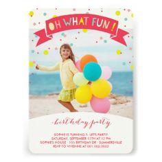 Oh, Welches Spaßconfetti Kindergeburtstag Party Karte