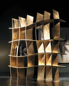 Design Inspiration: Bookcase With Amazing Curved Frame – Sherwood by Khaos | Flickr - Photo Sharing!