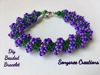 Floral Spiral Bracelet ~ Seed Bead Tutorials