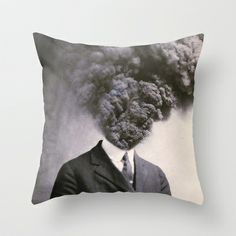 Outburst Throw Pillow by J U M P S I C K ▼▲ - $20.00