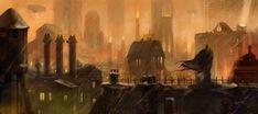 Batman Arkham City concept artwork courtesy of DC Comics