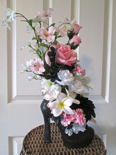 Silk Flower Arrangement with Pink White and von AlwaysInBloomFloral