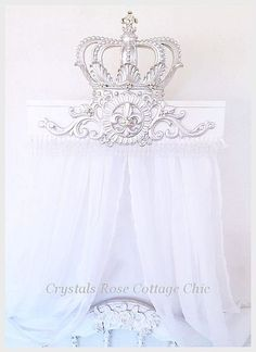 Silver Lux Bed Crown Teester Canopy