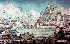 De Efteling - Anton Pieck, Dutch painter, artist and graphic artist.