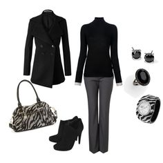 A fashion look from November 2012 featuring merino wool sweater, black peacoat and straight leg trousers. Browse and shop related looks.