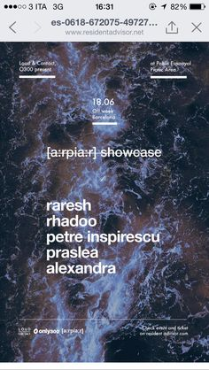 Arpiar showcase @ SONAR OFF Poble Espaniol, Barcelona, ES