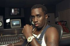 UNITED STATES - JULY 14: Sean 'Puffy' Combs in recording studio at 321 W. 44th St. (Photo by Andrew Savulich/NY Daily News Archive via Getty Images) New York Daily News Archive via Getty Images