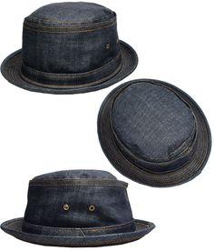 5e837155426  楽天市場 ニューヨークハット 帽子 ポークパイハット NEW YORK HAT 3059 DENIM STITCH STINGY デニム スティッチ  スティンジー デニム ブルー インディゴブラック ...