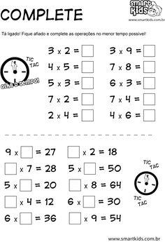 imagens de atividades de matematica de multiplicação