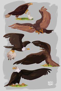 Creature Drawings, Bird Drawings, Cartoon Drawings, Animal Drawings, Eagle Cartoon, Snake Wallpaper, Eagle Drawing, Digital Art Beginner, Animal Sketches