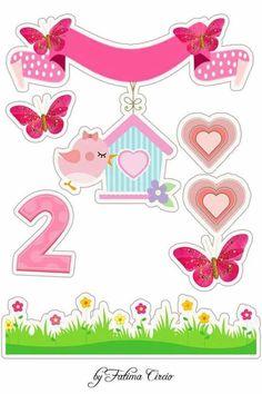 Passarinho Diy And Crafts, Paper Crafts, Bird Party, Pink Bird, Cute Cartoon Wallpapers, Unicorn Party, Scrapbook Albums, Print And Cut, Paper Piecing