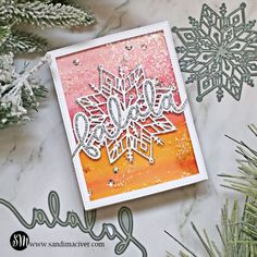 Snowflake Cards, Snowflakes, Merry Christmas To All, Christmas Cards, Handmade Stamps, Interactive Cards, Beautiful Handmade Cards, Winter Cards, Card Tutorials