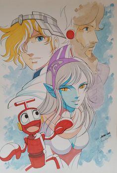 "Ulysse 31 by Jérôme Alquié - Original page The (pronounced ""nineteen-nineties""; 1980 Cartoons, Best 90s Cartoons, Nono Le Petit Robot, 80s Characters, My Character, Character Outfits, Character Design, 90s Childhood, Manga Illustration"