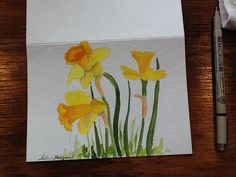 Spring notecards