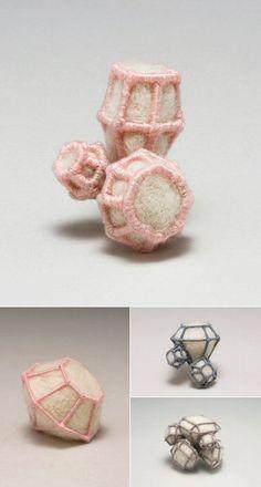 Textiles Jewellery - felt & wire jewels - alternative materials; contemporary jewelry design // Jessie Jordan