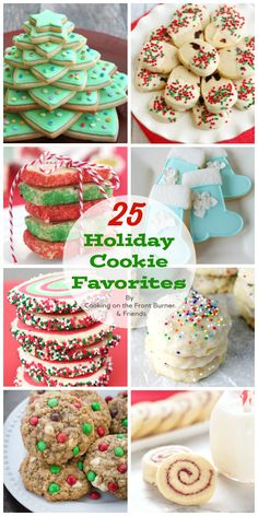 25 Holiday Cookies for your eating pleasure! Best Holiday Cookies, Holiday Cookie Recipes, Xmas Cookies, Holiday Desserts, Candy Recipes, Mini Desserts, Holiday Baking, Holiday Treats, Cookies Kids