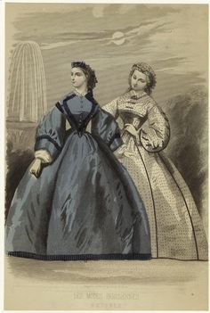 In the Swan's Shadow: Peterson's Magazine October 1862  Civil War Era Fashion Plate