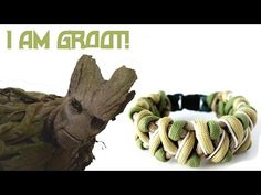 Solomon's Fire Groot Themed Paracord Bracelet Tutorial - YouTube