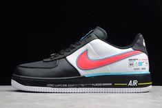 WomenMen Copuon Nike Air Force One '07 QS Low Rose Velvet Black White AH8462 003