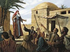 Lehi Prophesying to the People of Jerusalem (Gospel Art Book [2009], no. 67) - 1 Ne. 1:18–20