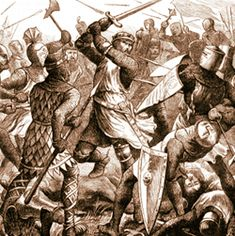 """At the Battle of Evesham in 1265, de Montfort was awaiting the army led by his son, Simon. When he saw his son's banners flying high, he began to hope they'd have a fighting chance to claim England. However, his son had been ambushed, and Prince Edward, the king's son was carrying de Montfort's stolen banners. When Simon realised the truth, he said """"May God have mercy on our souls because our bodies are theirs."""" On hearing that his son Henry had been killed, he replied """"Then it is time to…"""