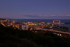 Duluth - Northern Images Photography - downtown Duluth and harbor by  Dennis O'Hara / Northern Images Photography