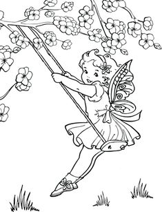 Free Printable fairy coloring pages. Fun and adorable coloring pages for fairy lovers. Free Coloring, Coloring Pages For Kids, Coloring Sheets, Kids Coloring, Art Quotes, Tattoo Quotes, Black Crayon, Fairy Drawings, Fairy Coloring Pages
