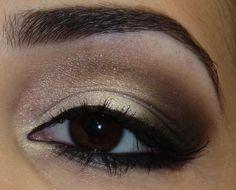 Thais Benites Make up: Tutorial em foto - Olho neutro pra noite