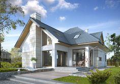 Stylowy 2A - wizualizacja 2 - Nowoczesny dom z antresolą o stylowej formie
