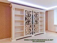 Model Bufet Pakaian Minimalis Mewah Modern Terbaru Putih Duco, Furniture Custome Sliding Luxury Mewah Minimalis Terbaru Furniture Modern