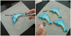 Accenting Cookies with Airbrushing {Guest Post} Blue Cookies, Cut Out Cookies, Royal Icing Cookies, How To Make Cookies, Seashell Cookies, Mermaid Cookies, Cookie Tips, Cookie Tutorials, Cake Decorating Tips