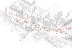 Antoine Alves - petite ceinture Paris axonometric project