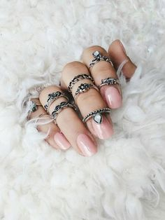 #rings #inspiration #nails #white #ring