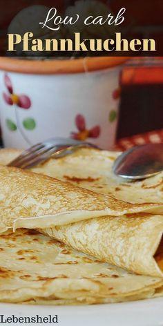 """Rezept für ein low carb Pfannkuchen zum Abnehmen. Für mehr solcher Rezepte, folge einfach der Pinnwand """"low carb Rezepte""""."""