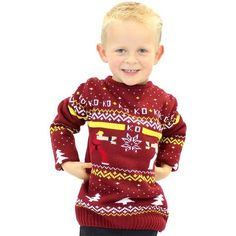 Official Street Fighter  Ken Vs. Ryu Kids Christmas Jumper / Ugly Sweater