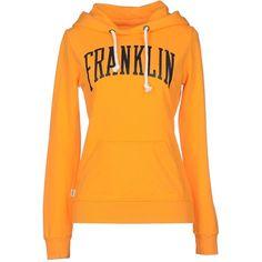 Franklin & Marshall Sweatshirt ($76) ❤ liked on Polyvore featuring tops, hoodies, sweatshirts, orange, logo sweatshirts, sweatshirts hoodies, long sleeve tops, sweat shirts and orange sweatshirt