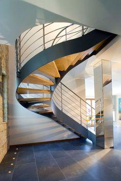 Métal brossé balustrade acier inoxydable fin post plancher escalier landing 90cm